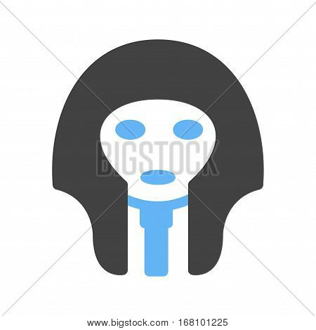 Mask, egyptian, face icon vector image. Can also be used for museum. Suitable for mobile apps, web apps and print media.