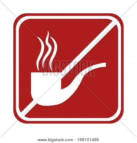 restricted tobacco pipe smoking square sign vector illustration eps 10