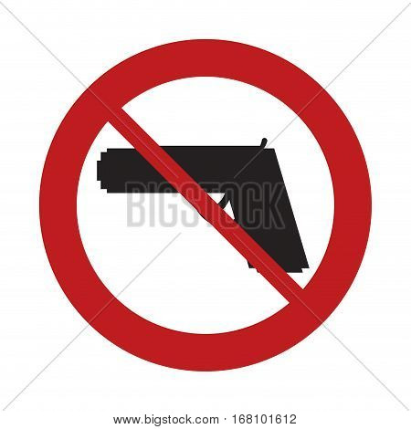 prohibited sign road gun weapon danger arm vector illustration eps 10