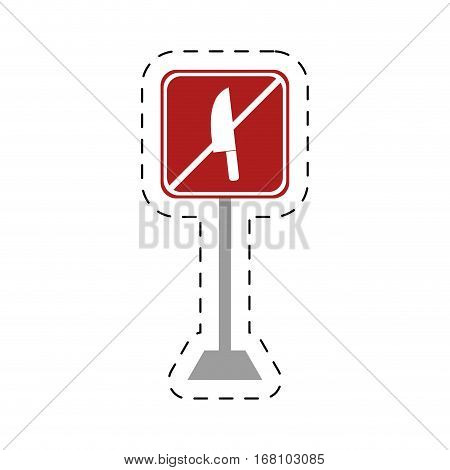 traffic prohibited knife arm weapon vector illustration eps 10