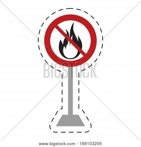 traffic prohibited flame fire danger hot vector illustration eps 10