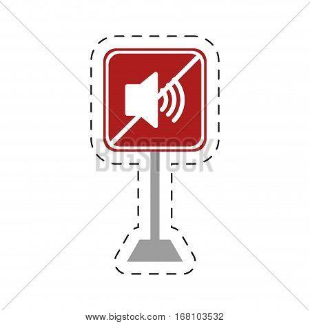 traffic prohibited speaker sound volume vector illustration eps 10