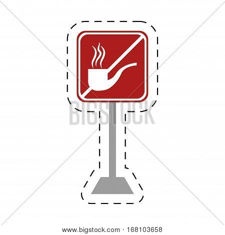traffic prohibited tobacco pipe smoking vector illustration eps 10