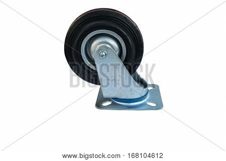 Industrial wheels or Caster on white background.