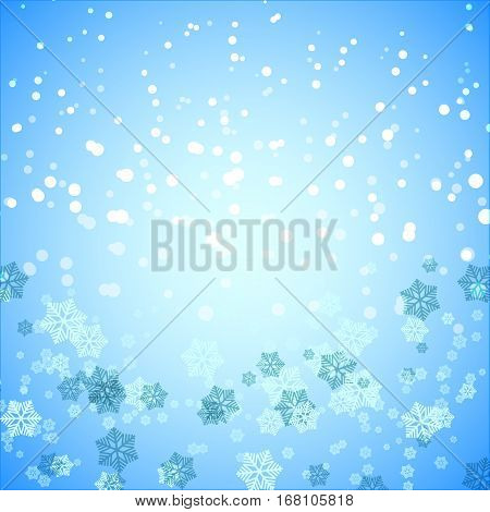 Created snowflake and snow abstract background stock vector