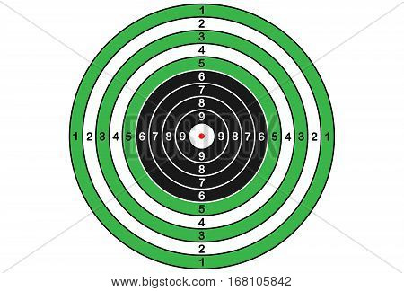 Vector target for rifle and archery in green and black colors