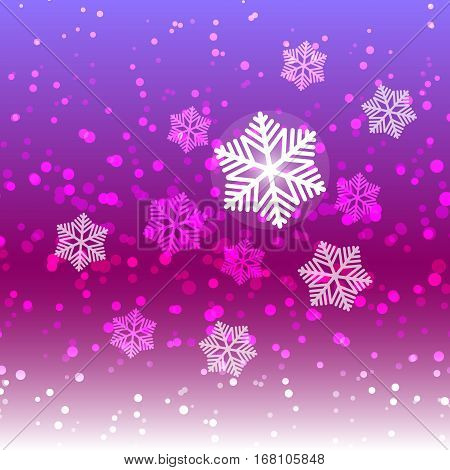 Winter sweet snow and snowflake abstract background stock vector