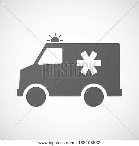 Isolated Ambulance With An Asterisk