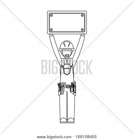 Construction worker cartoon vector illustration graphic design