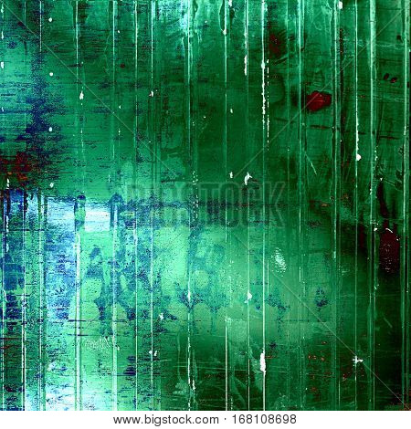 Old school textured background. With different color patterns: green; cyan; white; blue; red (orange)