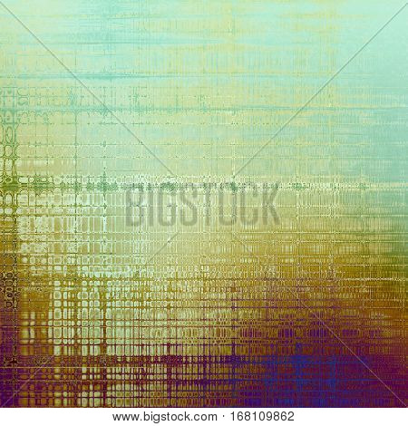 Old grungy stylish composition, vintage texture with different color patterns: yellow (beige); brown; green; blue; purple (violet); white