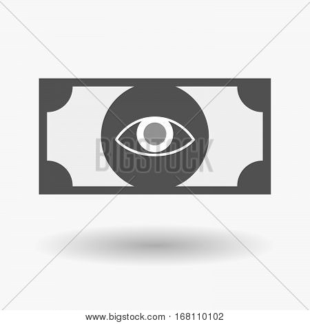 Isolated  Bank Note With An Eye