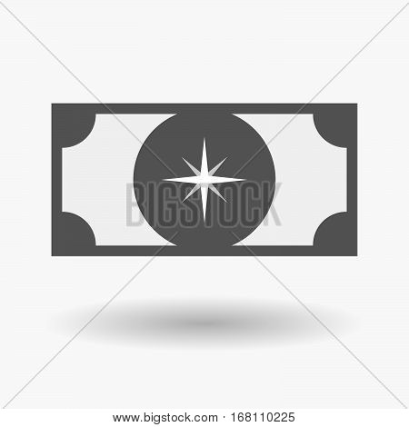 Isolated  Bank Note With A Sparkle