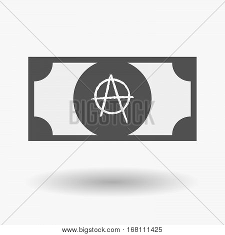 Isolated  Bank Note With An Anarchy Sign