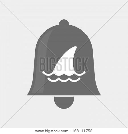 Isolated  Bell With A Shark Fin