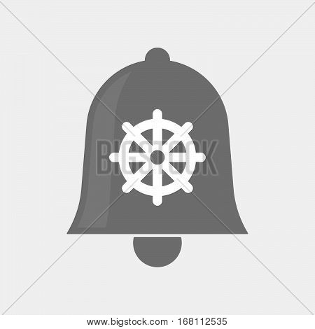 Isolated  Bell With A Dharma Chakra Sign