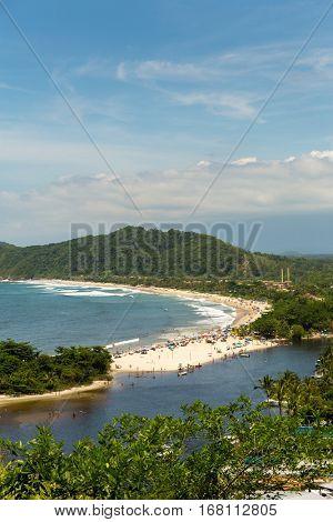 Barra do Una beach in Brazil