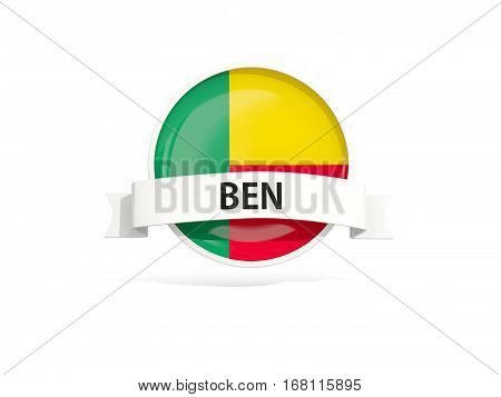 Flag Of Benin With Banner