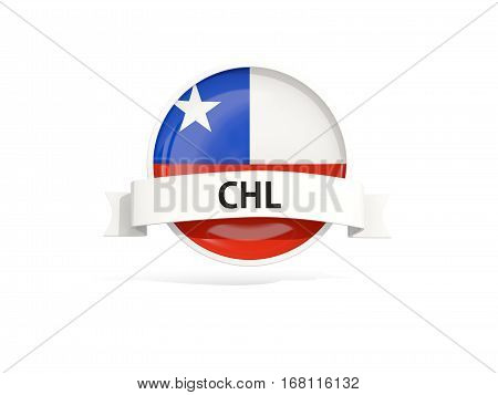 Flag Of Chile With Banner