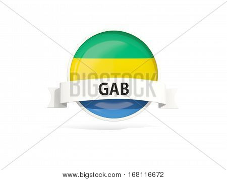 Flag Of Gabon With Banner