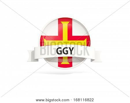 Flag Of Guernsey With Banner