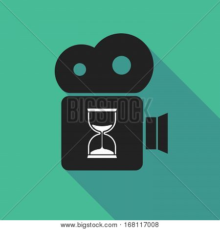 Long Shadow Cinema Camera With A Sand Clock