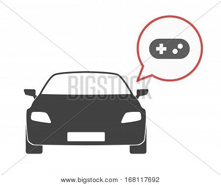 Isolated Car With A Game Pad