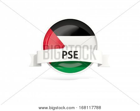 Flag Of Palestinian Territory With Banner