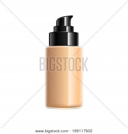 Creamy Cosmetic Bottle