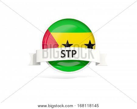Flag Of Sao Tome And Principe With Banner