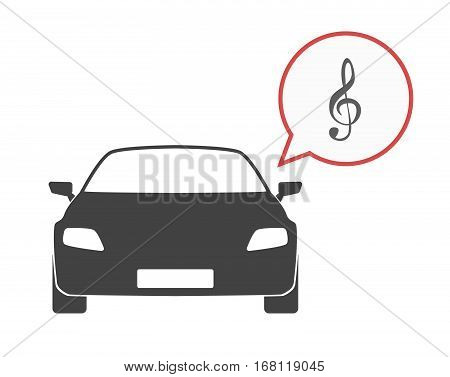 Isolated Car With A G Clef
