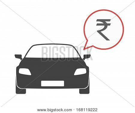 Isolated Car With A Rupee Sign