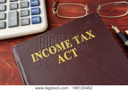 Book with title The Income Tax Act.