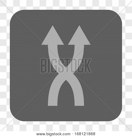 Shuffle Arrows Up interface toolbar button. Vector icon style is a flat symbol inside a rounded square button light gray and gray colors chess transparent background.