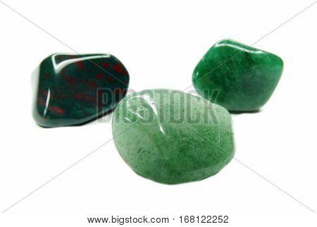 avanturine with chalcedony geological crystal quartz isolated