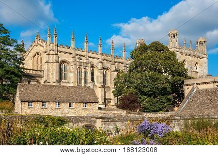 The Great Hall of Christ Church College and War Memorial Garden. Oxford Oxfordshire England