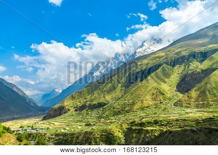 The Himalayan Region In Badrinath, North India