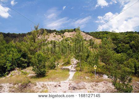 mount Dohlenstein, limestone rock face landscape, germany