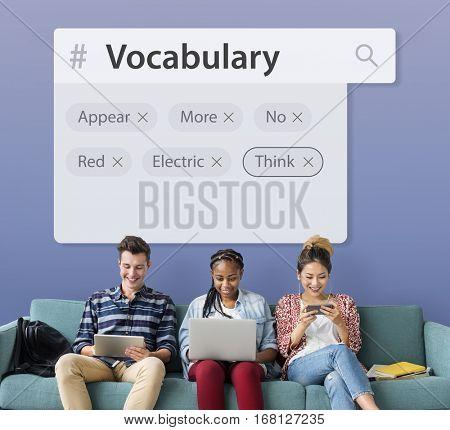 Vocabulary Words Learning Studying Explanation