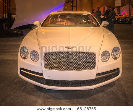 DETROIT MI/USA - JANUARY 11 2015: Bentley Flying Spur at The Gallery an event sponsored by the North American International Auto Show (NAIAS) and the MGM Grand Detroit.