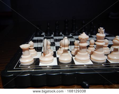 Detail Of A Pocket Chess Game