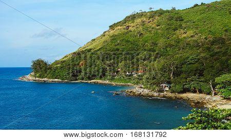 Mountain southern seashore. The shores of the Andaman Sea
