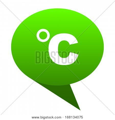celsius green bubble web icon