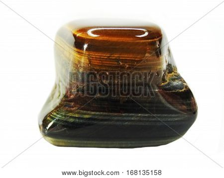 tiger eye mineral geological crystal mineral isolated