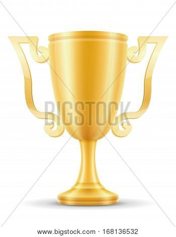 Cup Winner Gold Stock Vector Illustration