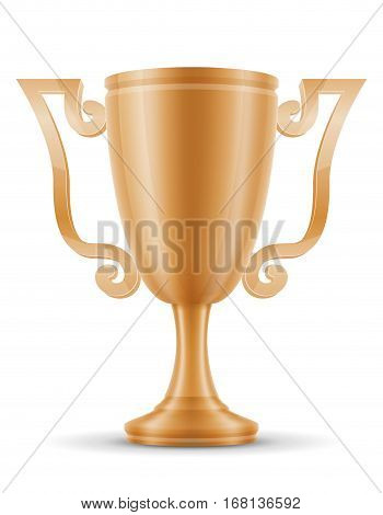 Cup Winner Bronze Stock Vector Illustration