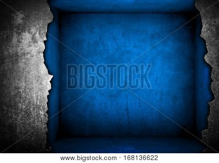 broken interior wall background