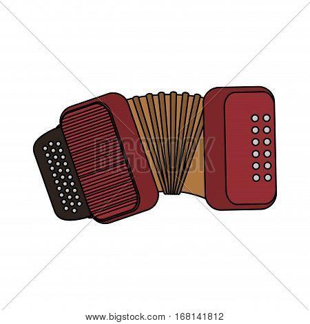 accordion instrument icon over white background. colorful design. vector illustration