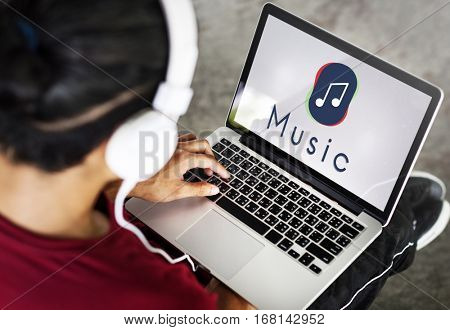 Music Streaming Multimedia Entertainment Art of Sound Concept