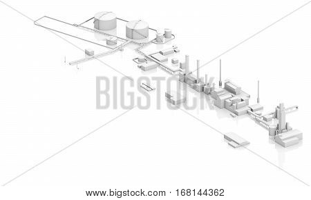 Modern Industrial Facility With Tanks
